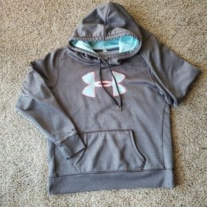 Gray Under Armour Hooded Sweater